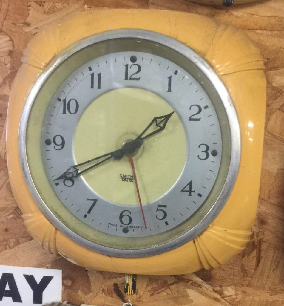 Thbclk044 048 Smiths Electric Wall Clock Square Bakelite