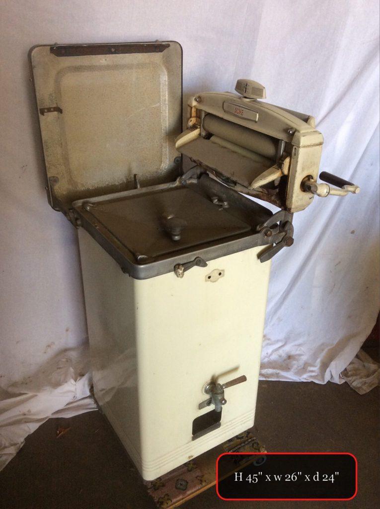 THBSTWM02 cream single tub washing machine with ringer + tap ...