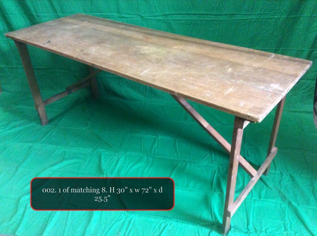 Thbtt01 Wooden Trestle Table X8 Trevor Howsam Limited