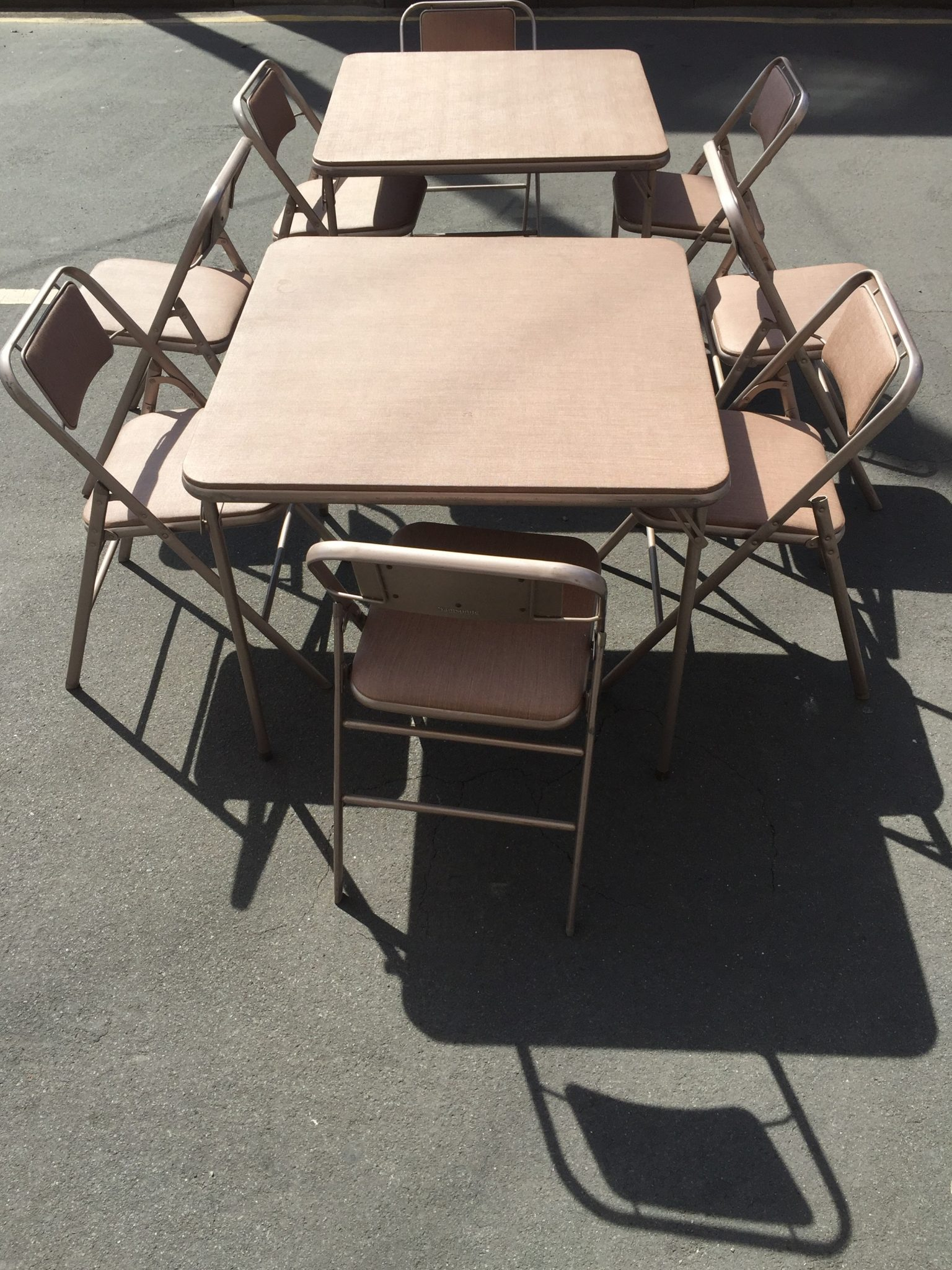 THBSAFC001 Samsonite folding chairs and card tables USA Trevor