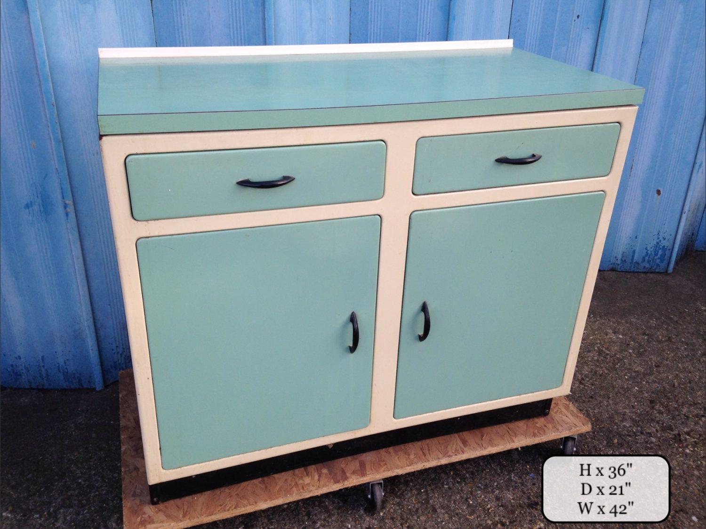 THBGCMC01 Anemone pale green and cream metal kitchen • Trevor Howsam ...