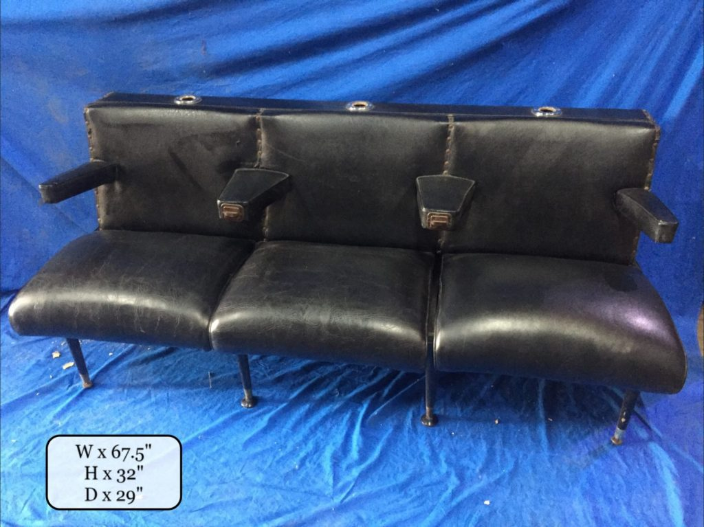 Thbthdch02 Black Triple Seat Hairdresser Chair Trevor