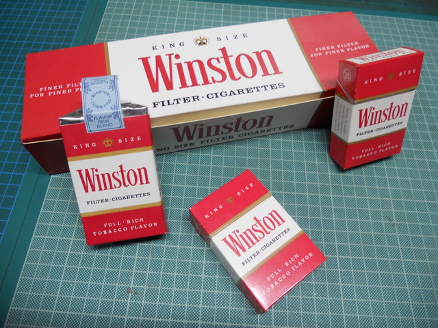 Winston com cigarettes
